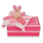Mini doudou collector lapin rose