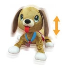 Les Peppy Pups toufous Chien marron