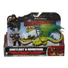 Figurine Dragon et son Dresseur : Rustik et Croche-fer