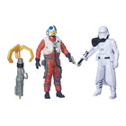 Star Wars pack 2 figurines 10cm :  First order Snowtrooper officier et Snap Wexley