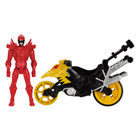 Power Rangers moto cascade et figurine Rouge