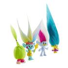Trolls figurine 12,5cm pack de 4 +Fourche