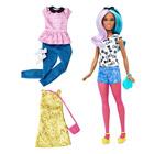 Barbie fashionistas et tenues 42 bleu et violet Doll & Fashions Petite