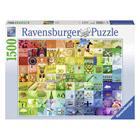 Puzzle 1500 pièces 99 belles couleurs
