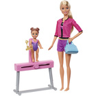 Barbie-Coffret sport gym poupée blonde