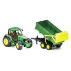 Tracteur John Deere et sa remorque