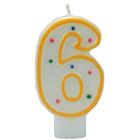 Bougie anniversaire chiffre 6