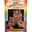 Scraper argent tigre et petit
