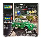 Maquette Citroën 2cv avec peintures et accessoires