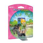 9074-Soigneuse avec bébé gorille - Playmobil Friends