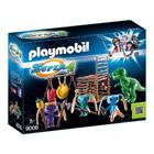 9006 - tribu d'alien avec bébé Tyrannosaure - Playmobil Super4