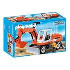 6860-Tractopelle avec godet - Playmobil pompiers et aéroport