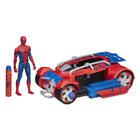 Figurine 15 cm avec  véhicule Spiderman