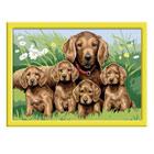 Grand Numéro d'art-Famille nombreuse chiens