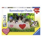 Puzzles 24 pièces chatons au repos