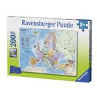 Puzzle XXL 200 pièces carte d'Europe