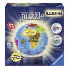 Puzzle 3D globe lumineux 72 pièces