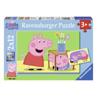 Peppa Pig-2 puzzles 12 pièces