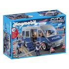 9236-Fourgon de policiers avec matériel de barrage- Playmobil City Action