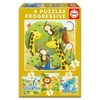 Puzzles progressifs animaux sauvages