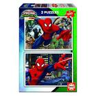 2 puzzles 100 pièces Spiderman