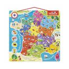 Puzzle France magnétique bois 93 pièces