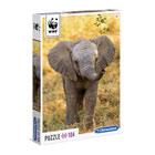 Puzzle 104 pièces WWF Éléphanteau