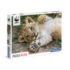 Puzzle 250 pièces WWF Lionceau