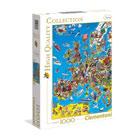 Puzzle 1000 pièces Carte de l'Europe