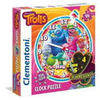 Puzzle horloge Trolls 96 pièces