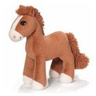 Peluche cheval marron clair 25 cm