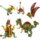 Dinosaures Bloco vélociraptor et ptérosaure