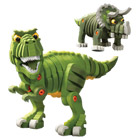 Bloco t-rex et triceratops