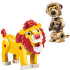 Bloco savane lion et suricate