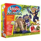 Bloco savane avec hyène et chimpanzé