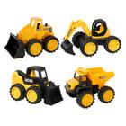 Set de 4 véhicules de chantier JCB