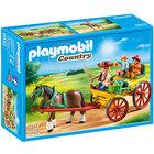 6932-Calèche avec attelage Playmobil