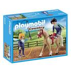 6933-Voltigeuses et cheval Playmobil