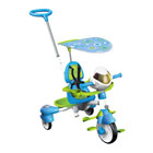 Tricycle interactif 6 en 1 bleu