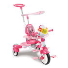 Tricycle interactif 6 en 1 rose
