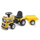 Porteur et remorque camion de chantier jaune