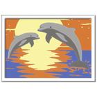 Numéro d'art mini format dauphins