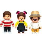 Monchhichi-Pack 3 figurines Kauri Saule et Hanae