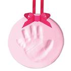 Souvenir empreinte de bébé rose