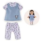 Blouse et legging panda party pour poupée ma corolle