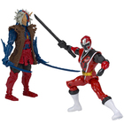 Power Rangers-Figurines Ranger rouge contre méchant 12 cm