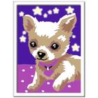 Numéro d'art mini chien qui brille