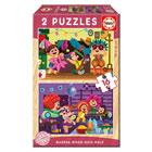 2 puzzles en bois 16 pièces carnaval