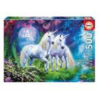 Puzzle 500 pièces licornes dans la forêt
