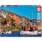 Puzzle 1000 pièces maisons nordiques